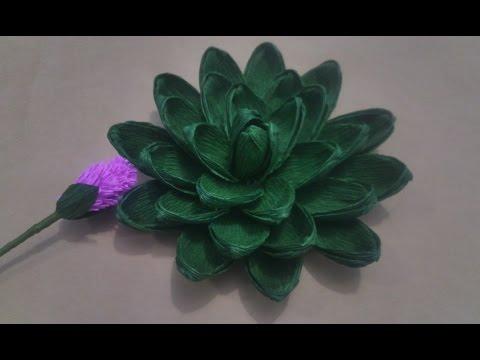 [Paper Succulents] Cách làm hoa sen đá bằng giấy nhún