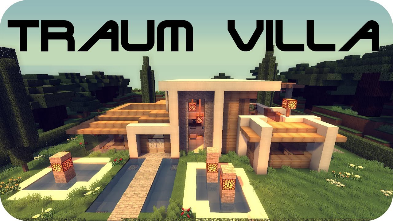 Minecraft modernes Haus / raumvilla (+Download) - Youube