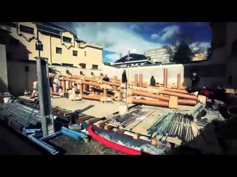 Vídeo Timelapse La IE Papel Pavilion (Shigeru Ban)