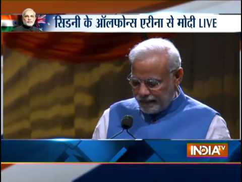 PM Modi Live Addressing Public From 'Madison' Encore At Sydney's Allphones Arena - India TV