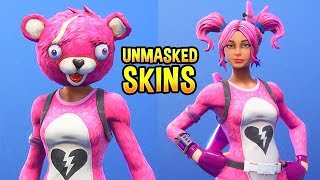 I removed the Masks on My Fortnite Skins and they looked amazing..!