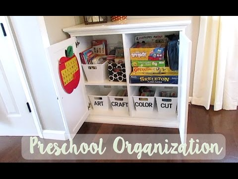 Preschool Cabinet Organization Our Dining Room Clroom