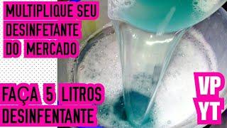 Faça 5 Litros de Desinfetante Caseiro Super Econômico
