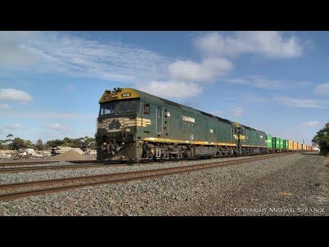 7902V Mildura To Melbourne Container Freight - PoathTV Australian Trains & Railways