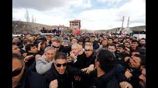 CHP Lideri Kemal Kılıçdaroğlu'na şehit cenazesindeki saldırı görüntülerinin tamamı
