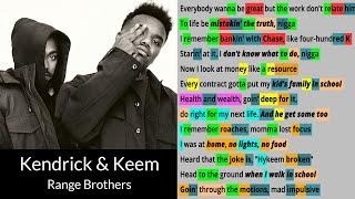Range Brothers by Kendrick Lamar & Baby Keem - Rhyme Check lyric video