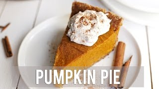 How to Make Pumpkin Pie | EASY + VEGAN RECIPE