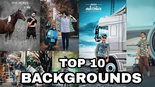 Top 10 new backgrounds in picsart || full hd new backgrounds || royal Editing all tips and trick