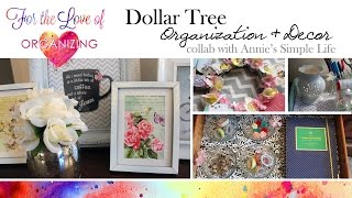 Dollar Tree Organization Collab With Annie's Simple Life: Office Decor