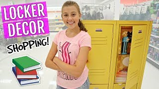 Back To School Shopping | Locker Decor For High School!