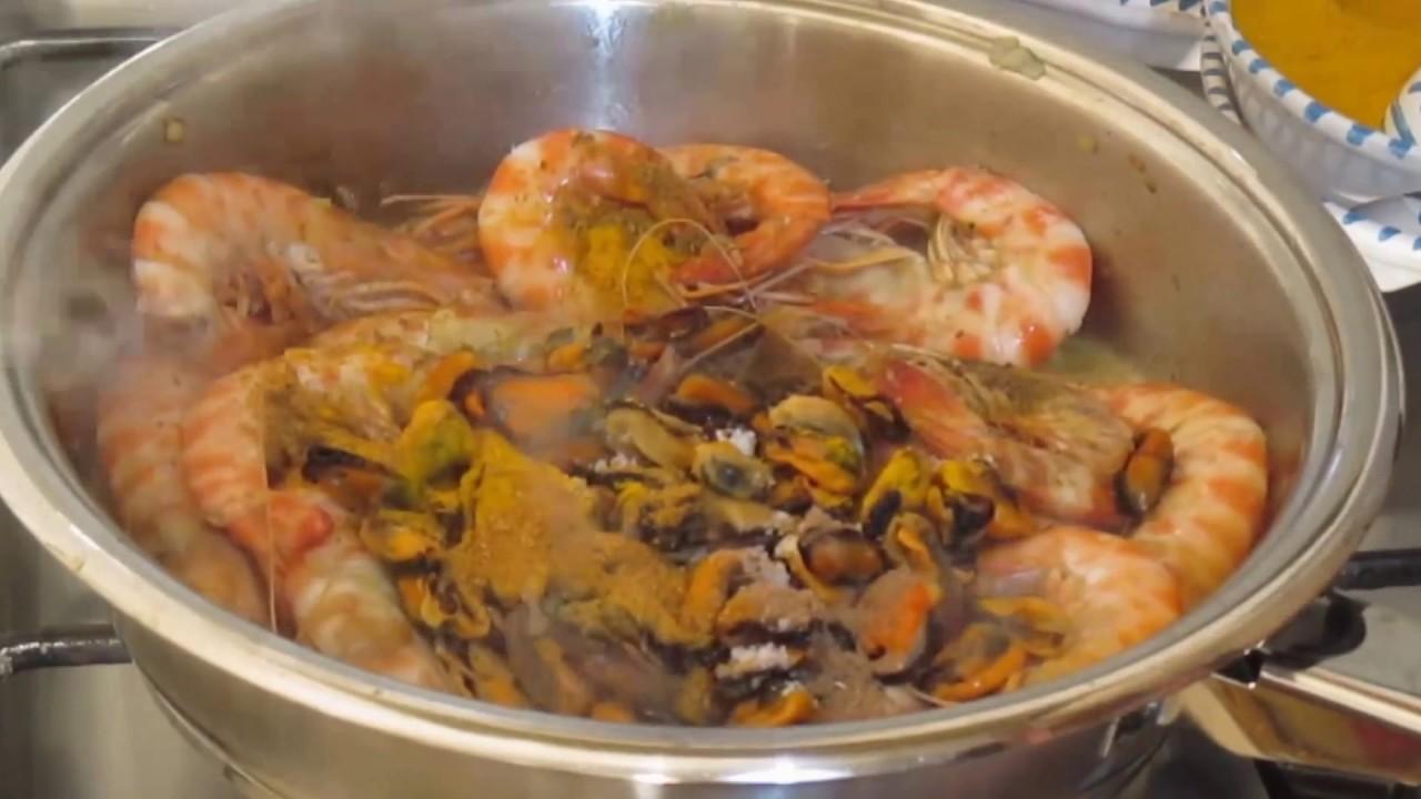 Spaghettis aux crevettes et aux moules recette - Youtube cuisine tunisienne ...