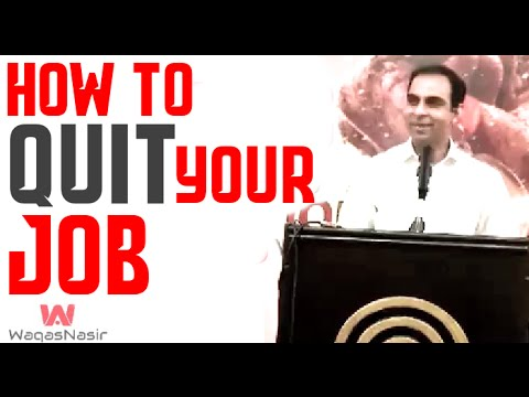 How to Quit Your Job Before Starting a Business? -By Qasim Ali Shah | In Urdu
