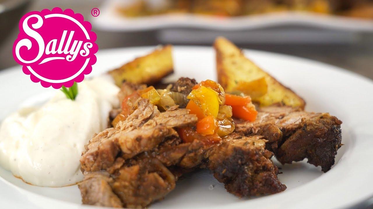 Kebab aus dem Ofen mit Bratkartoffeln / deutsch-türkische Küche / Sallys  Welt