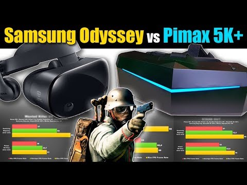 Vr Headset Comparison >> VR Game Benchmark: Samsung Odyssey vs Pimax 5K+ FPS Performance Side-by-Side - YouTube