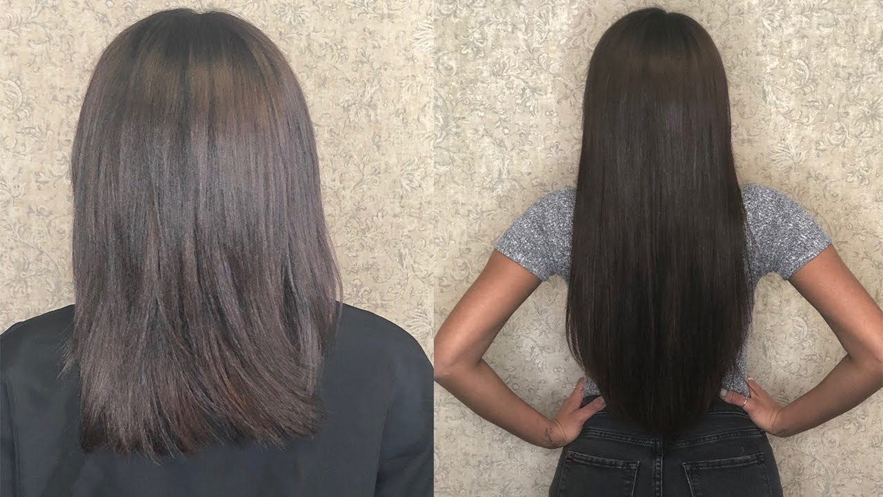 Tape In Hair Extensions Transformation From Short To Long Luscious