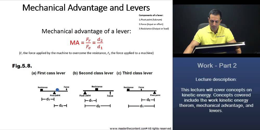 Mcat Mechanical Advantage And Levers First Class Second Class