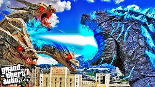 GODZILLA vs KING GHIDORAH in GTA 5 (Mods)