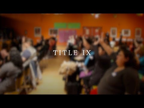 ICAH organizers and youth host Title IX Townhall