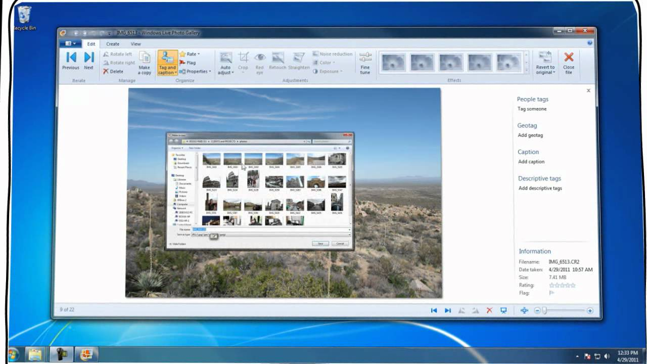 how to view raw files on windows 7