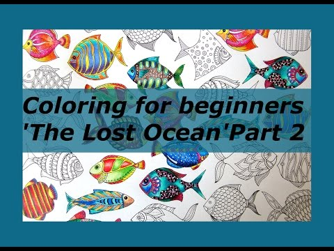Coloring Tutorial For Beginners: Fishes In
