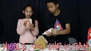 Nicole Laeno   Gingerbread House Challenge with Christian Laeno