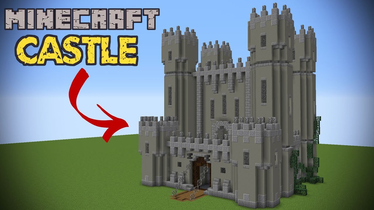 How To Make A Minecraft Castle Minecraft Tutorial Youtube