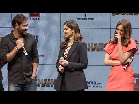 Ajay Devgn TEASES Esha Gupta & she can't stop LAUGHING