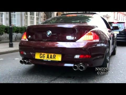 BMW 650i with Quad Custom Exhaust Revs and Accelerations!