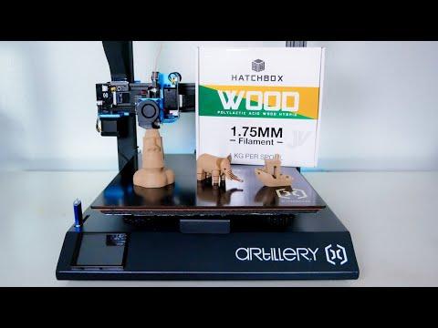 HatchBox - 3D Printing Wood Filament - Artillery SW X1