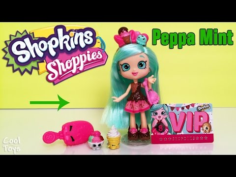 Shopkins Shoppies Peppa Mint Doll, Season 4 Exclusives, VIP Card for App. by CoolToys