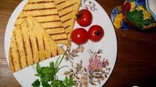 Тортилья с печеными баклажанами и грецкими орехами. Мексиканская кухня