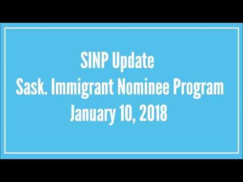Saskatchewan Immigrant Nominee Program (SINP) Update 2018