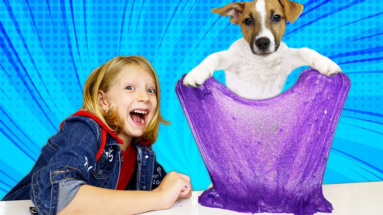 Собачка ЛАКИ УПРАВЛЯЕТ МОИМ СЛАЙМОМ! Какой ПОЛУЧИТСЯ СЛАЙМ у СОБАКИ?