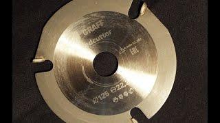 Универсальный пильный диск по дереву для болгарки ( УШМ ) обзор