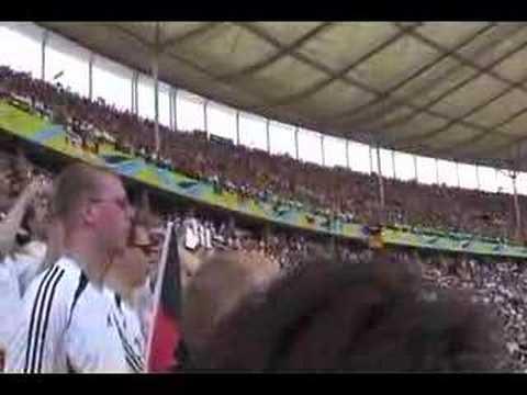 German anthem in Olympiastadion