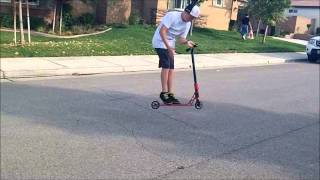 Scooter fails and bails