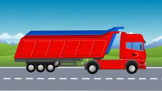 Learning Colors in English for Toddlers with Street Vehicles and Dump Trucks | Video for Kids