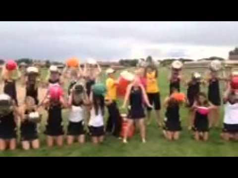 Union girls Tennis ALS ice bucket challenge