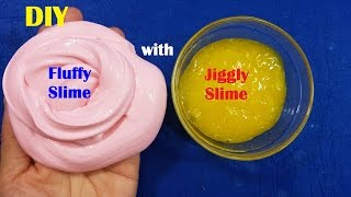 Video How To Make Fluffy Slime and Jiggly Slime Without Glue or Borax download MP3, 3GP, MP4, WEBM, AVI, FLV November 2017