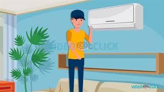 AC Onarım Servisi Video | 2D Çizgi Animasyon | Müteahhitler