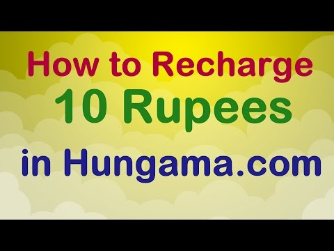 How to Recharge 10 Rupees in hungama.com
