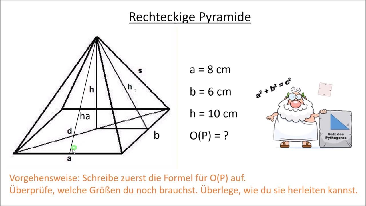 Oberfläche Pyramide Berechnen