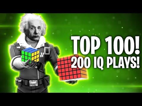 200 IQ - TOP 100 PLAYS EVER REAKTION! 🔥 | Fortnite: Battle Royale