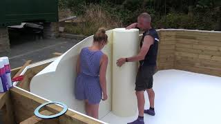 Chelsea Wooden Pool Build Pt3   Preparing for liner installation