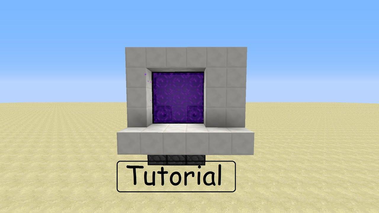 Minecraft Tutorial X Hidden Nether Portal GermanHD YouTube - Minecraft geheime hauser
