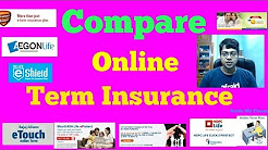 Compare Online Term Insurance : Compare Before Buying Online Term Insurance