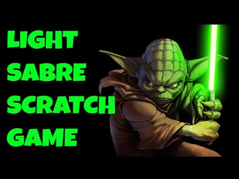 Light Sabre Scratch Game (using webcam control)