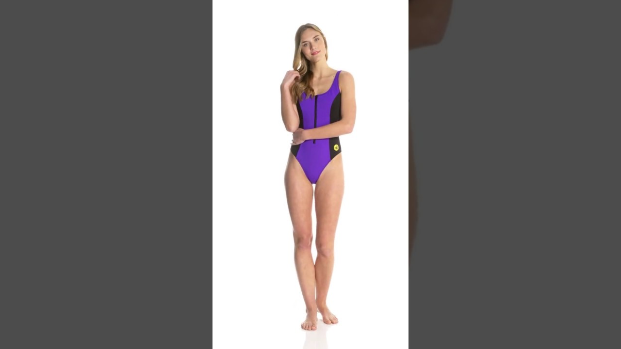 c257178b93a Body Glove Swimwear 80's Throwback Time After Time One Piece Swimsuit |  SwimOutlet.com