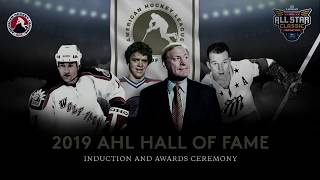 2019 AHL Hall of Fame Induction & Awards Ceremony