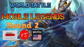 Indonesia vs Malaysia | MOBILE LEGENDS | Round 2 | GaminG With RoY